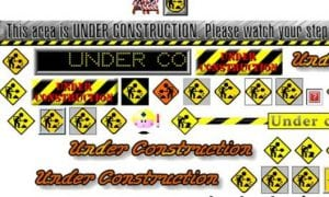 Different Images Of Under Construction Icons From The Nineties