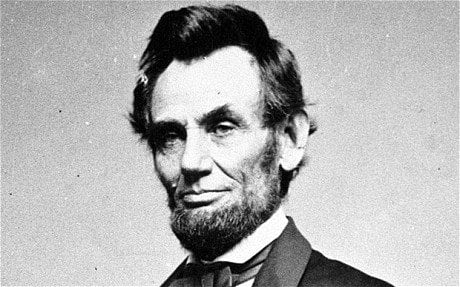 an image of President Abraham Lincoln with a beard