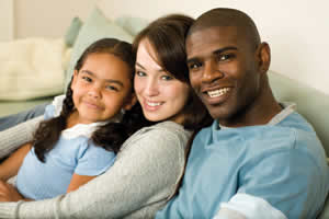 an image of an interracial family