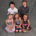 an image of 2 boys and 3 girls siblings