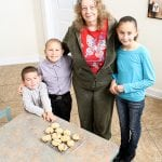 photo of kids with their grandmother
