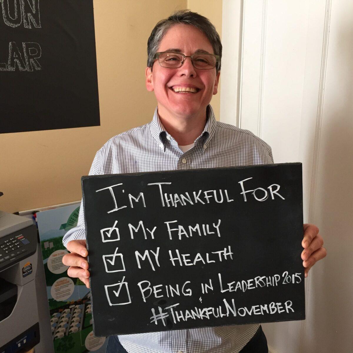 Cris Weber thankful for thanksgiving