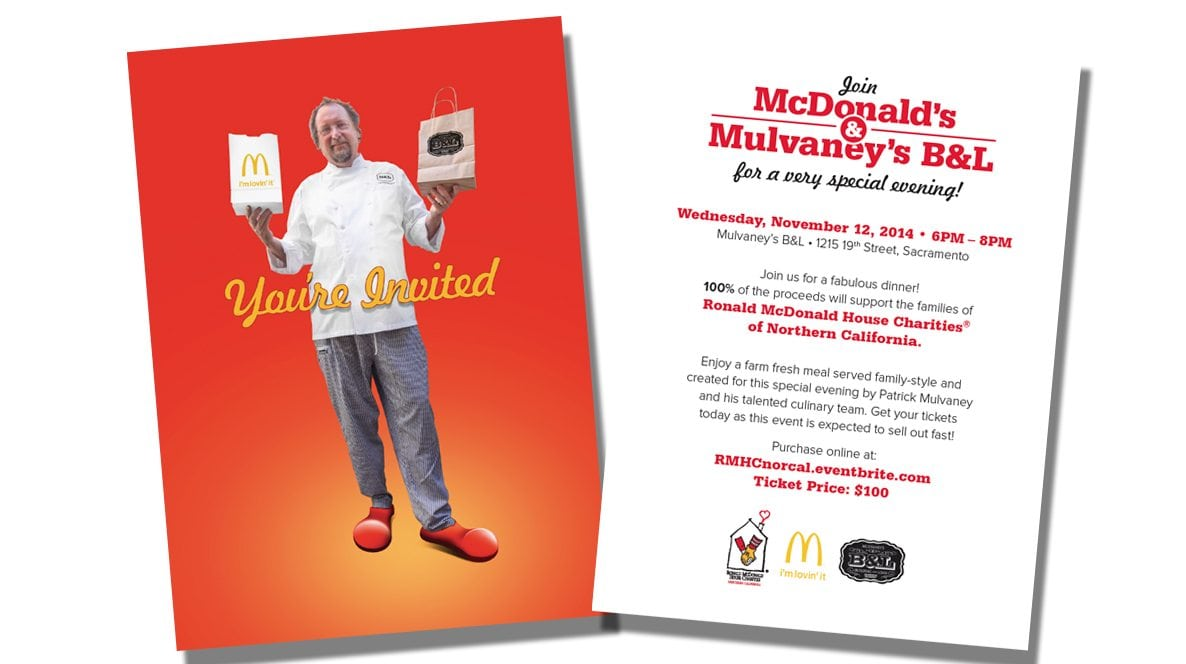 You're Invited To Join McDonalds And Mulvaney's B&L Brochure