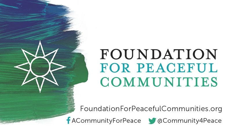 Foundations for Peaceful Communities business card front