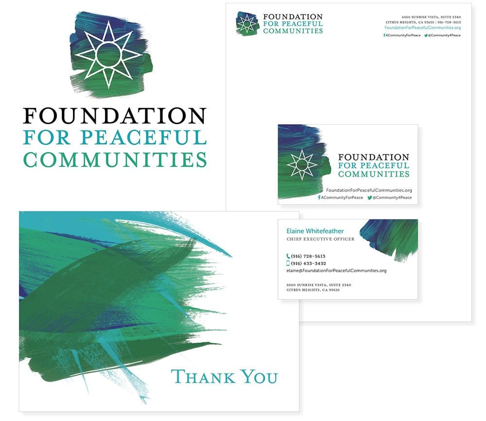 Foundations for Peaceful Communities collage of all the pieces of the business system