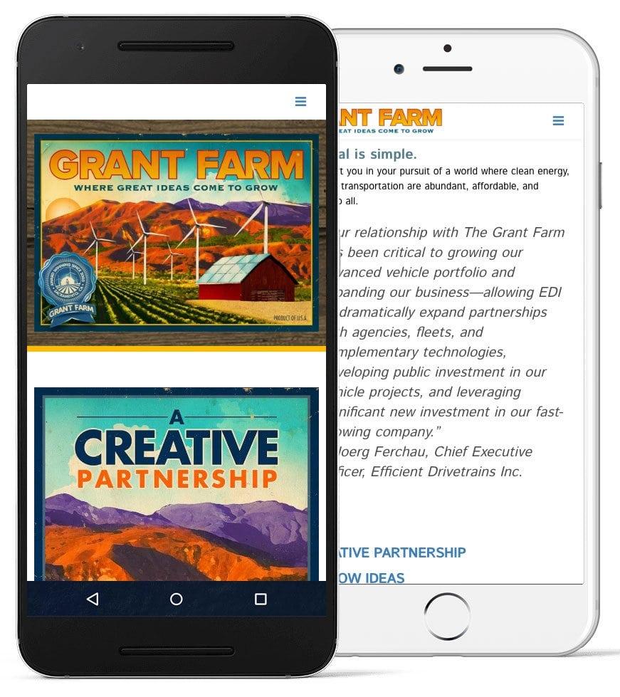 grant farm responsive screenshot