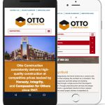 A screenshot of the Otto Construction website on mobile devices