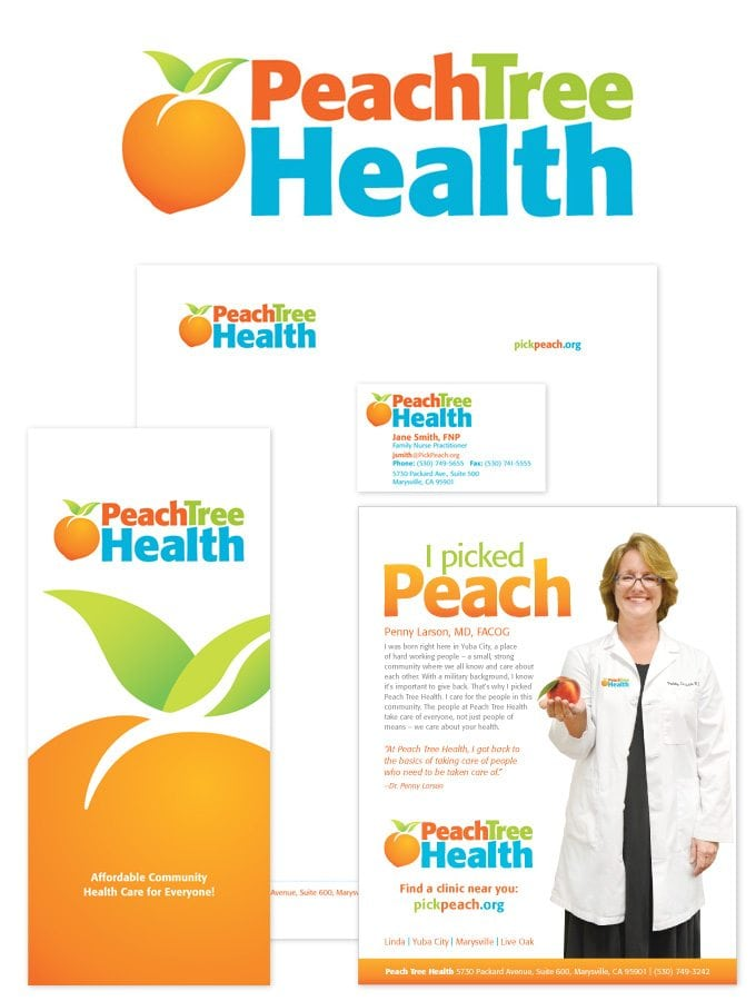Some print materials we did for Peach Tree Healthcare