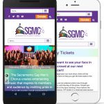 A screenshot of the SGMC website on mobile devices