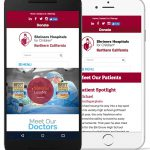 A screenshot of the Shriner's Hospital website on mobile devices