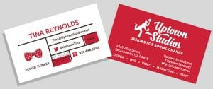 Tina Reynolds business card redesign