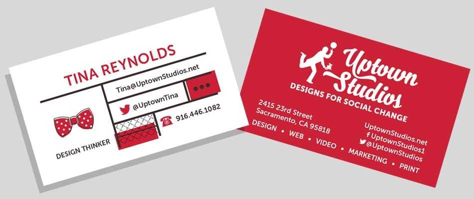 Tina Reynolds Business Card Brand