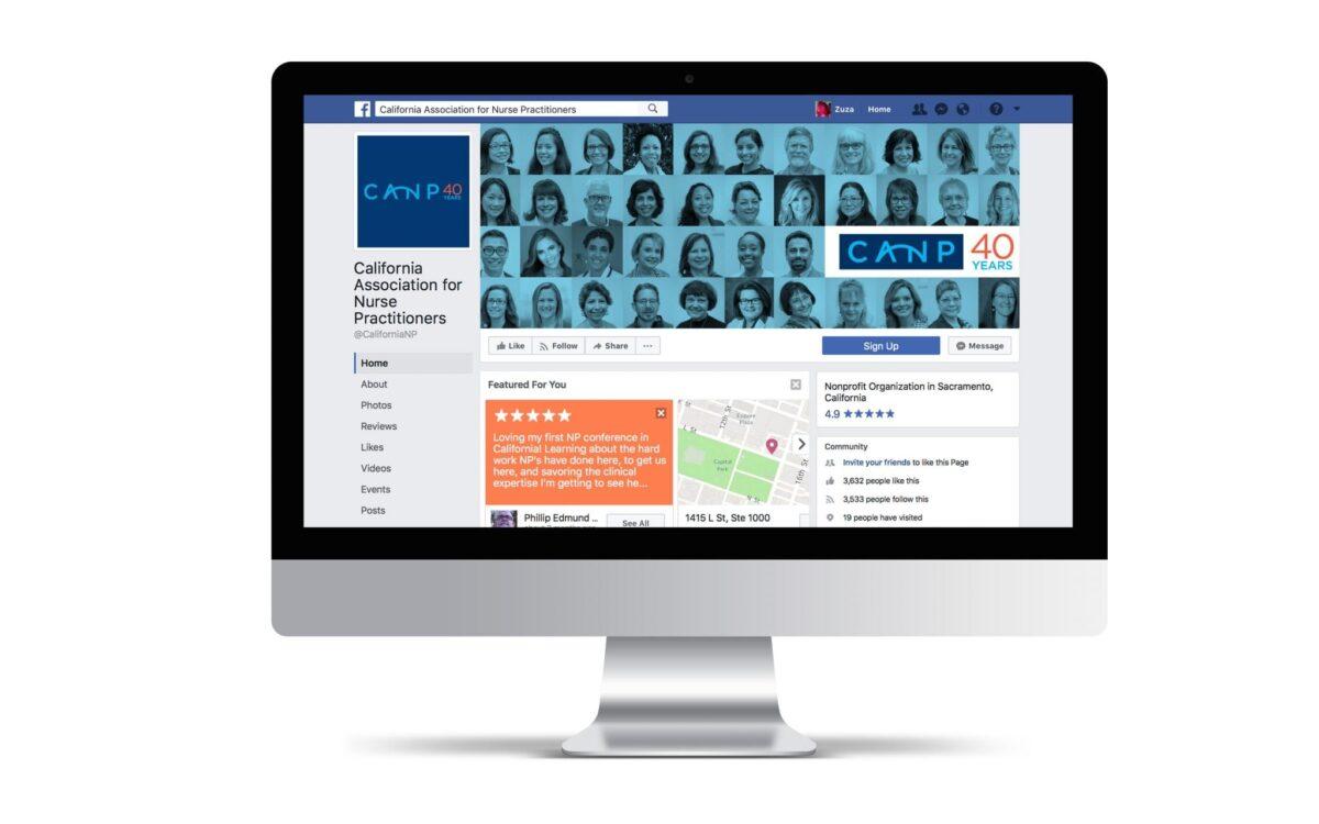 CANP website on computer screen