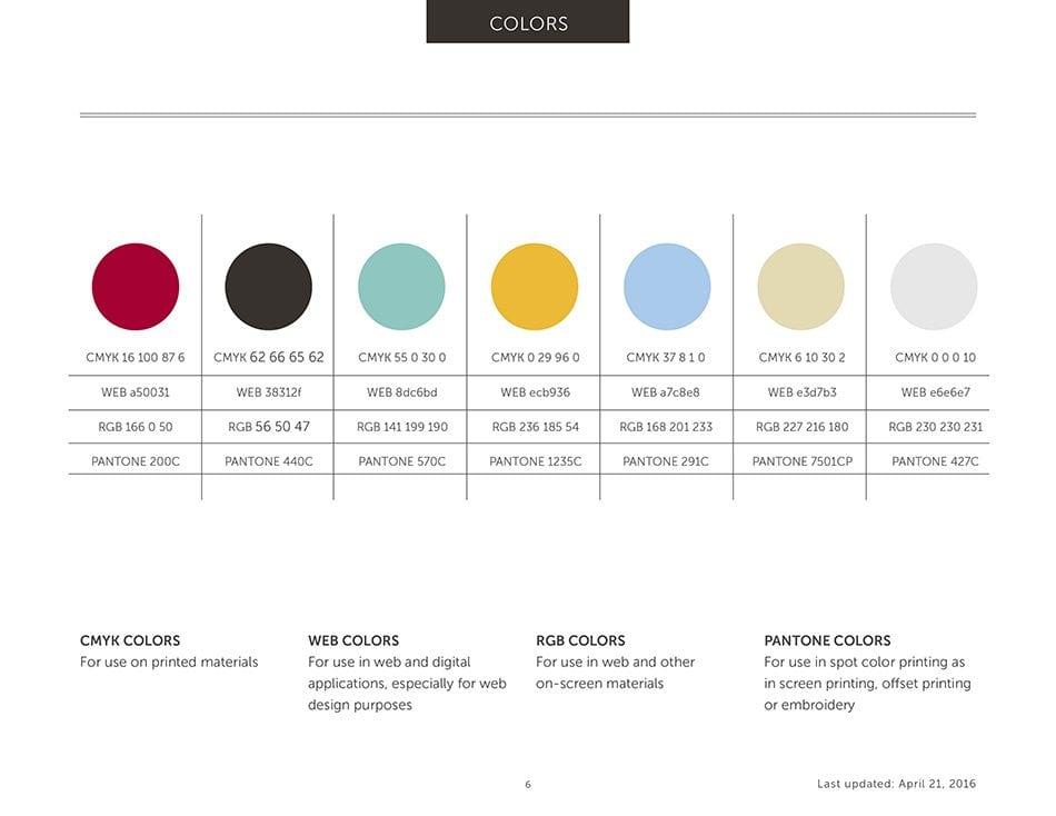 Uptown Studios color palette