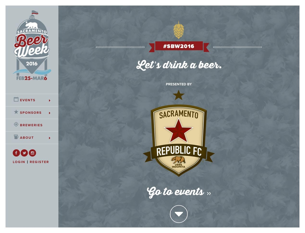 A screenshot of the Sacramento Beer Week website we built for the Sacramento Area Brewers Guild