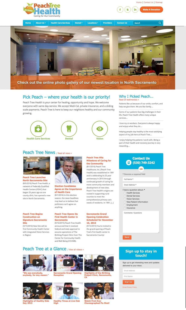 Peach Tree Health website screenshot