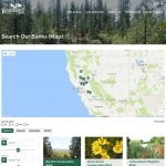A screenshot of the Westervelt Ecological Services searchable map feature
