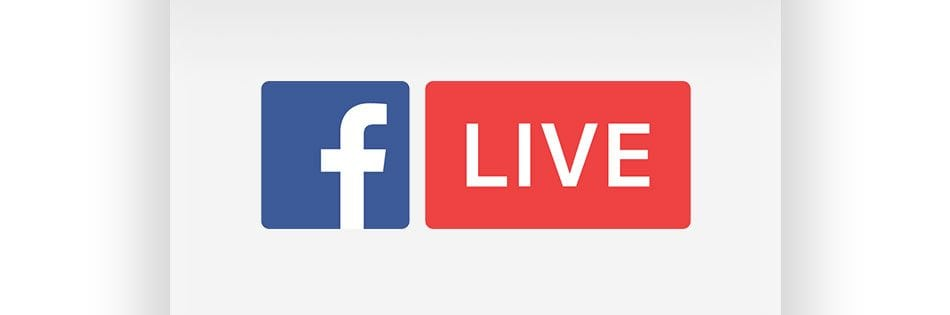 A banner image that says Facebook Live