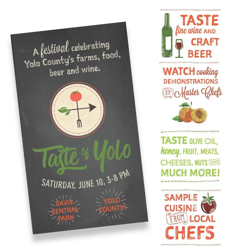 Design for Taste of Yolo event June 10