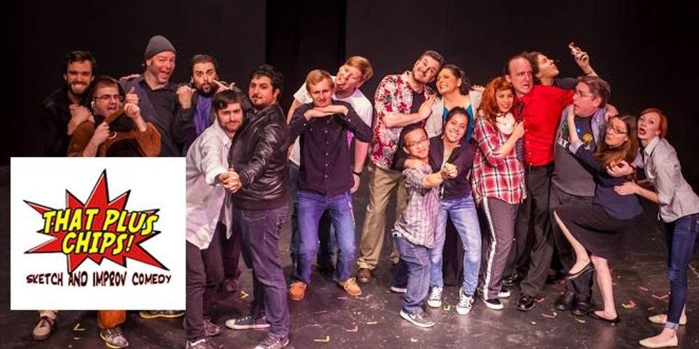 an image of the That Plus Chips cast standing together in funny poses and making funny faces
