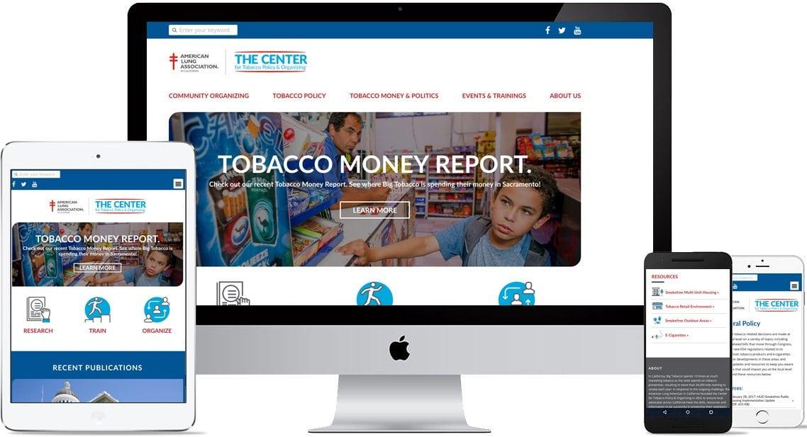 Responsive Web design for The Center