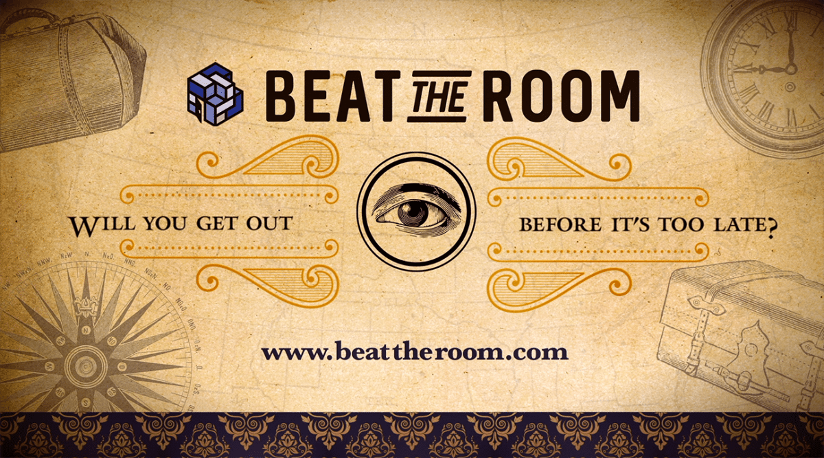 Beat The Room With One Eye Looking Straight Out And Light Yellow Background