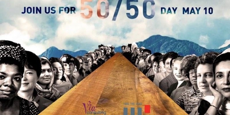 50/50 event flyer