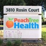 peach tree sign