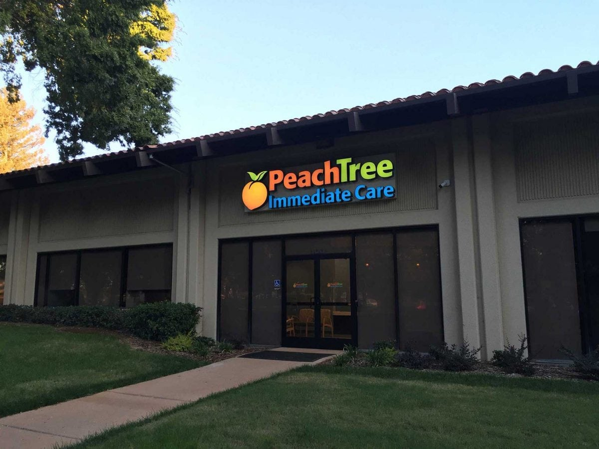 peachtree immediate care front of building