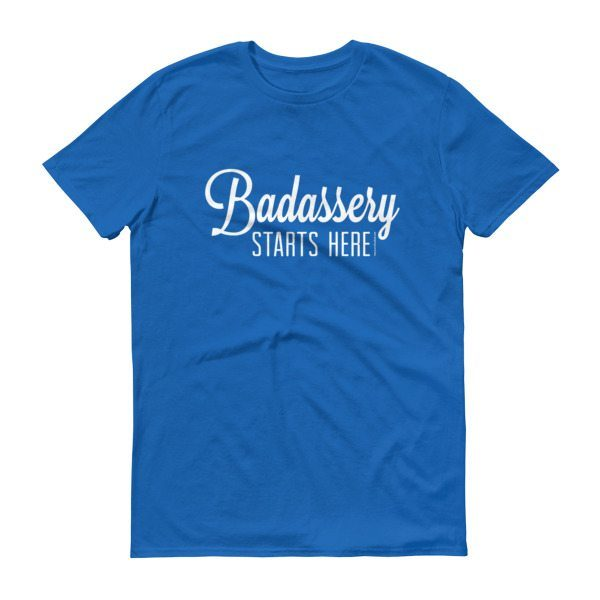 blue badassery shirt front
