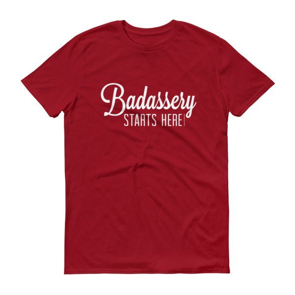 red badassery shirt front