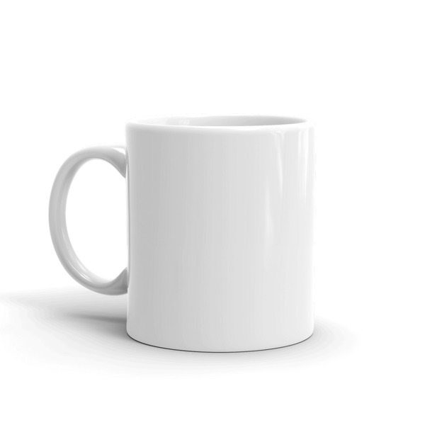 an image of a white mug