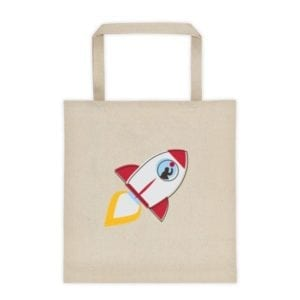bag with rocket