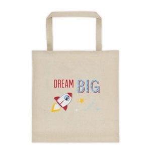 dream big bag with a rocket