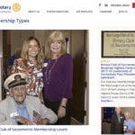 Rotary Club inside website page