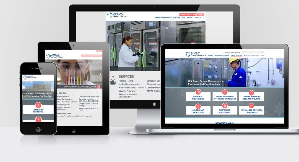 AMPAC Fine Chemicals and AMPAC Analytical websites