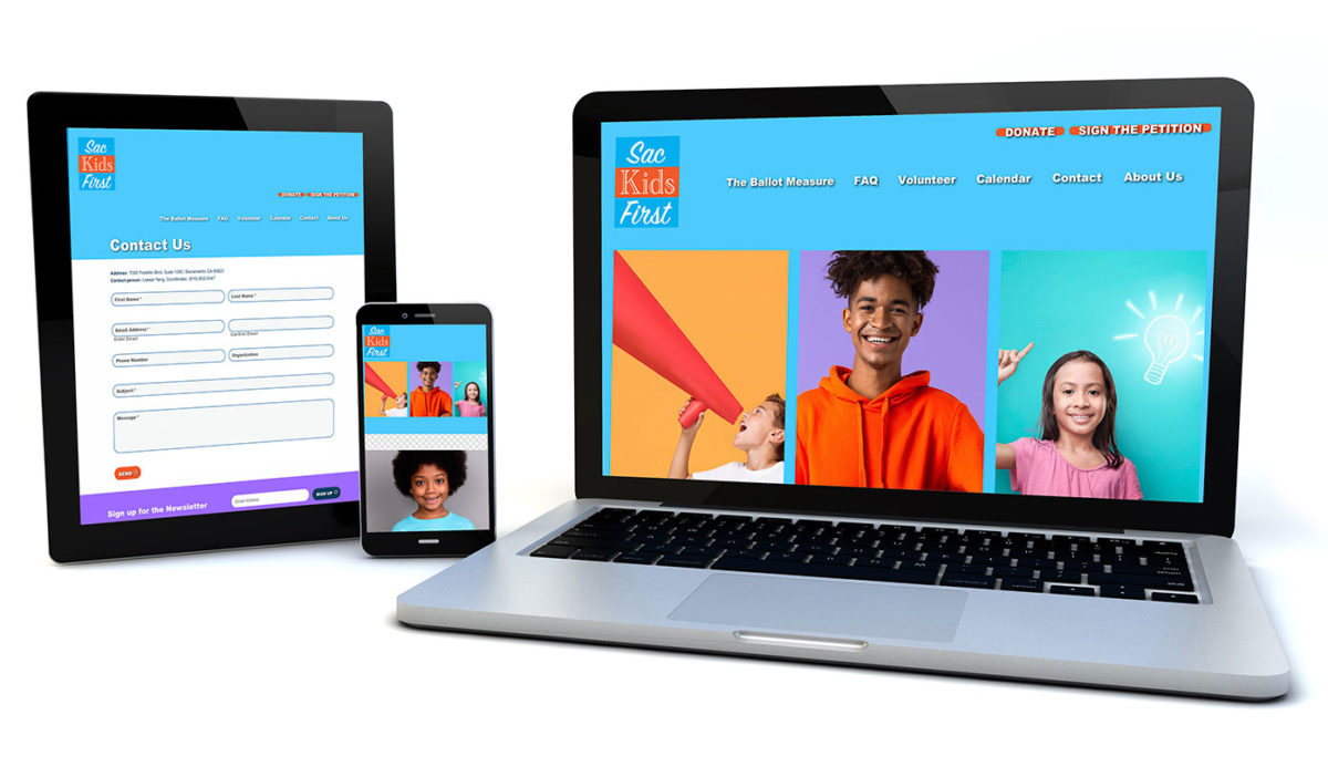 Sac Kids First – Web Design portfolio thumbnail