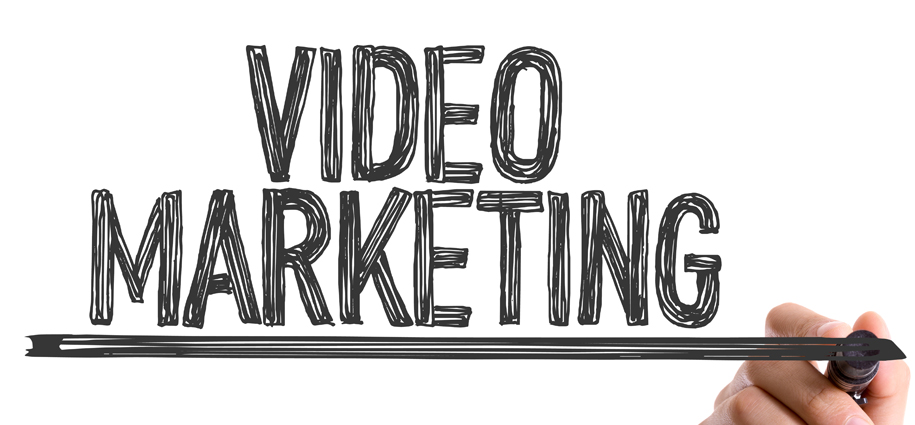 video marketing in black marker