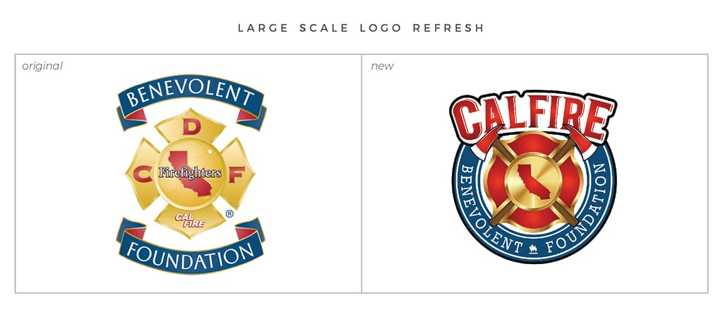 Full-Service Branding Large Scale Logo Refresh For Cal Fire Benevolent Foundation