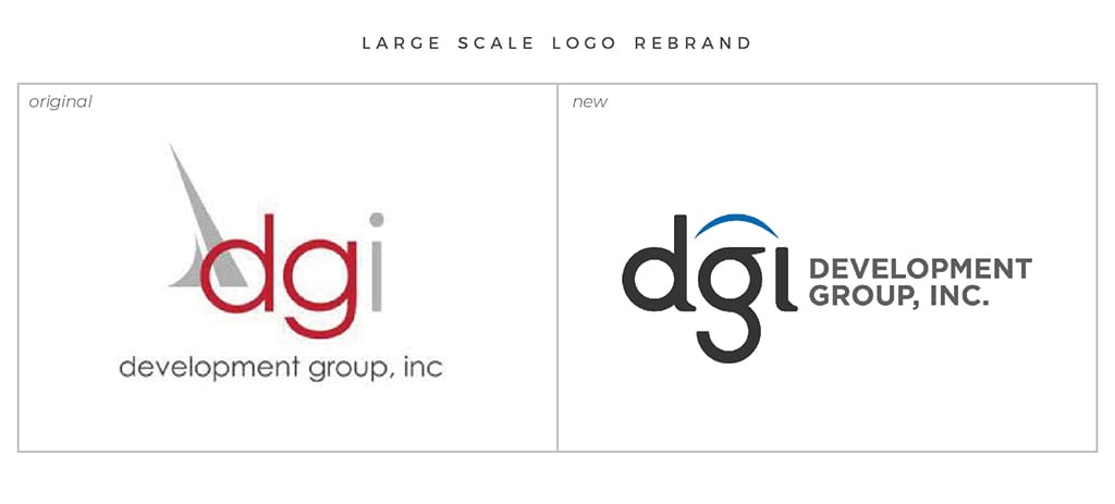 Full-Service Branding Large Scale Logo Rebrand For DGI