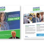 Blue And Green Political Brochure Of Patricia Lock Dawson Running For Riverside Mayor