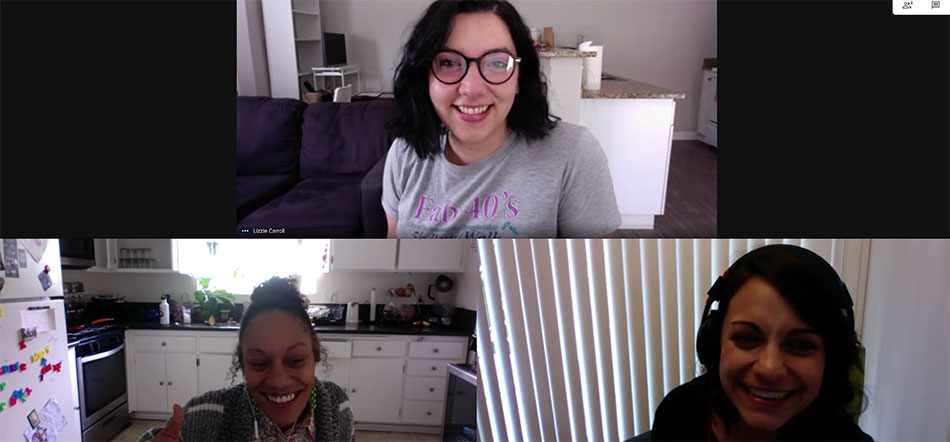 Google Hangouts Video Conference Call While Working From Home During COVID-19 Quarantine