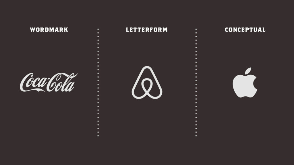 Three Columns Of White Logos Of Apple CocaCola AirBnB Brand Management For Sacramento With Black Background