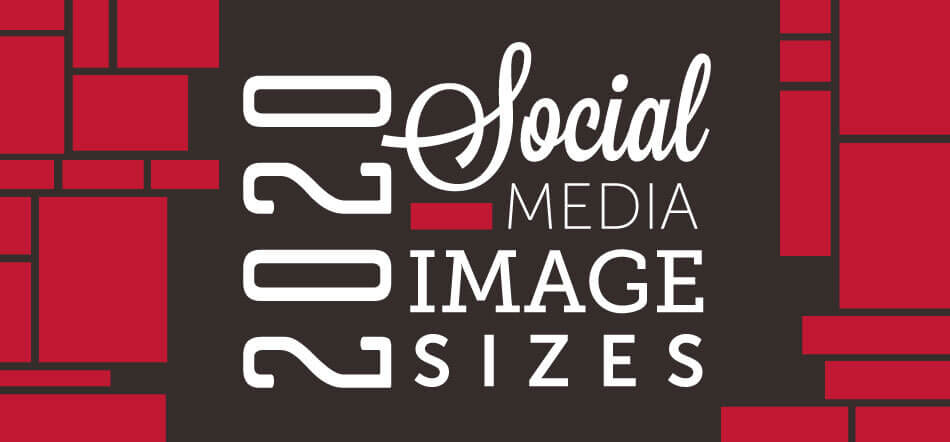 2020 Social Media Image Sizes With Red And Black Background