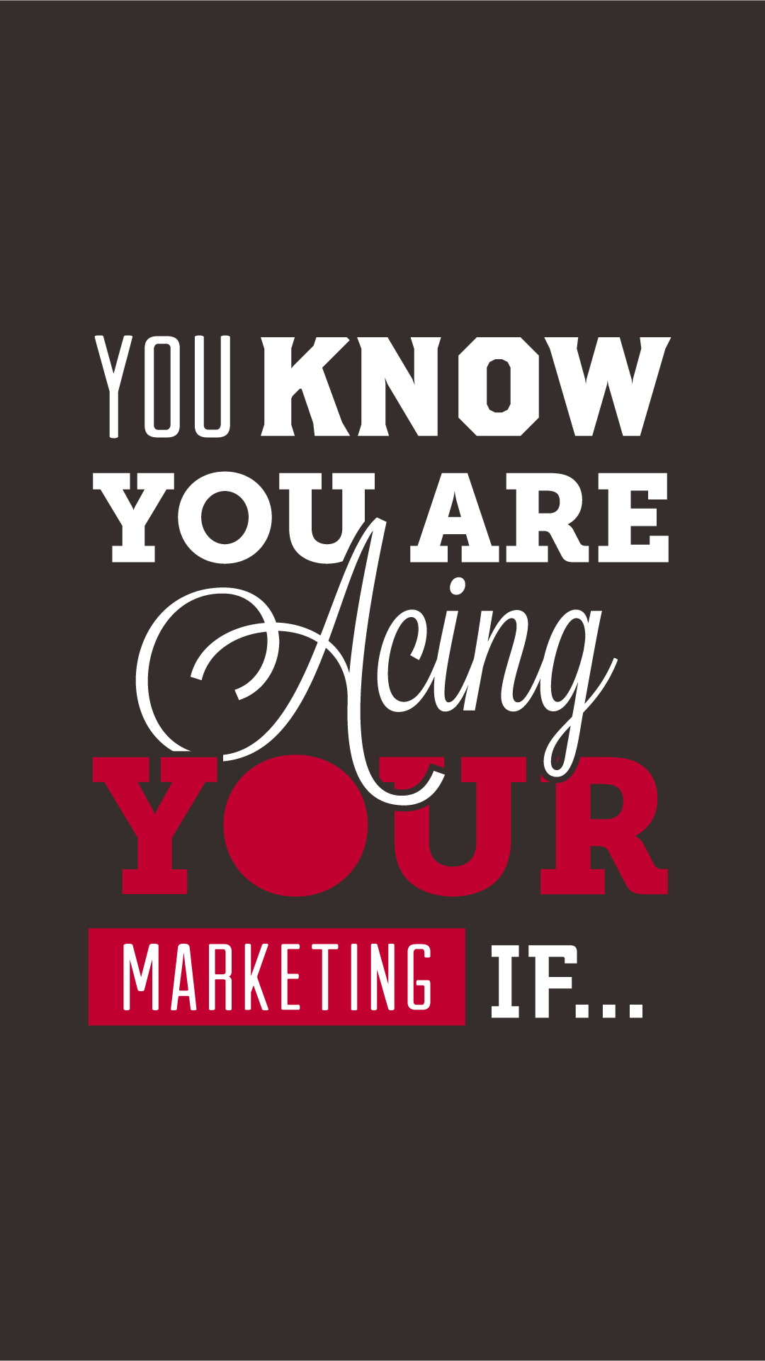 Ace your marketing infographic part 1