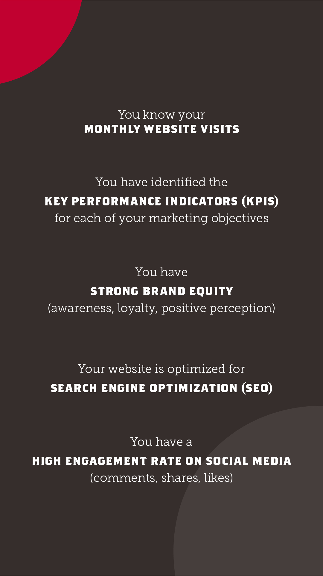 Ace your marketing infographic part 2