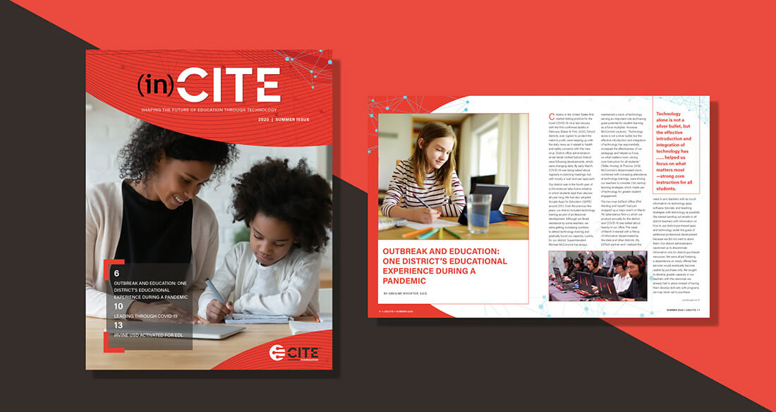 CITE Magazine Rebrand Portfolio Piece With Red And Black Background