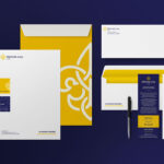 Melina Levy Rebranded Business Office Supplies On Purple Background
