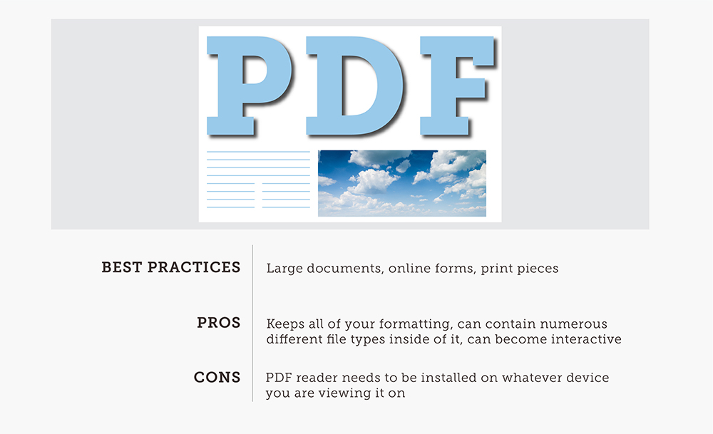 PDF Image Explanation Card With Cloudy And Blue Skies Background