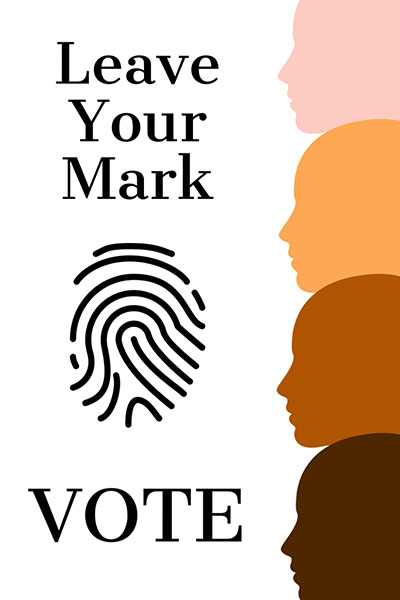 Leave Your Mark Vote With Fingerprint In Center